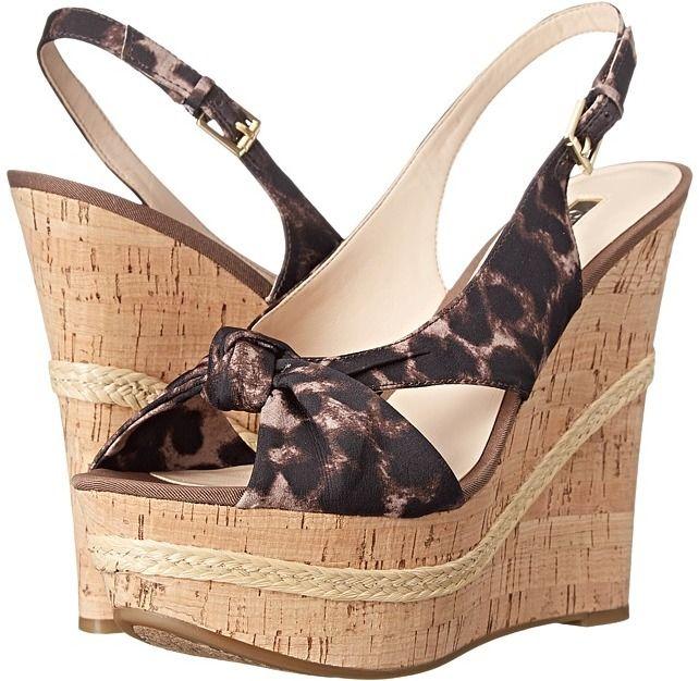 Womens Sandals GUESS Delilan Leopard Fabric