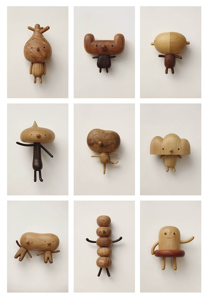 Wood figures by Yen Jui Lin