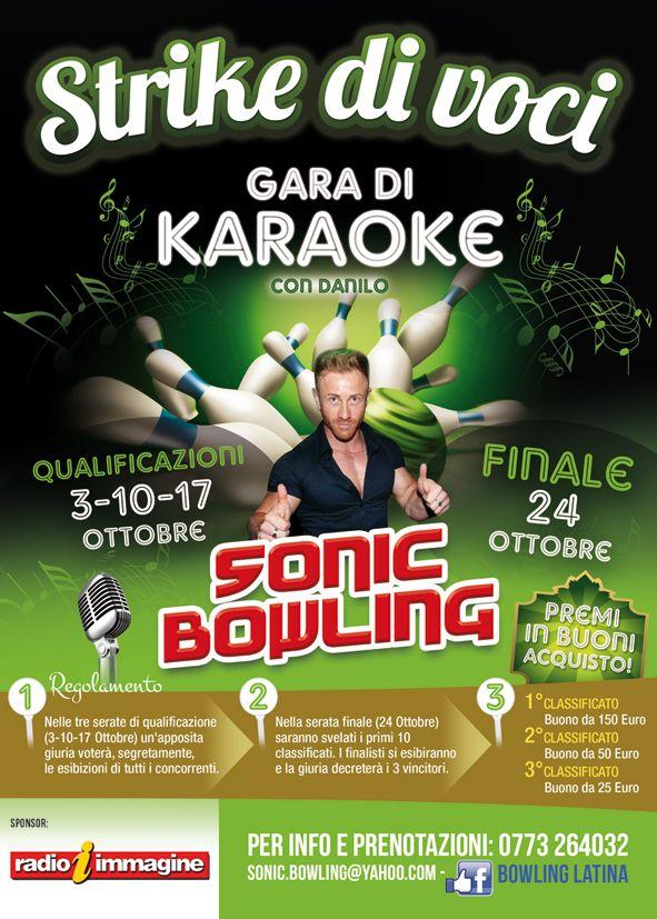 Locandina per #karaoke #bowling #latina #premi