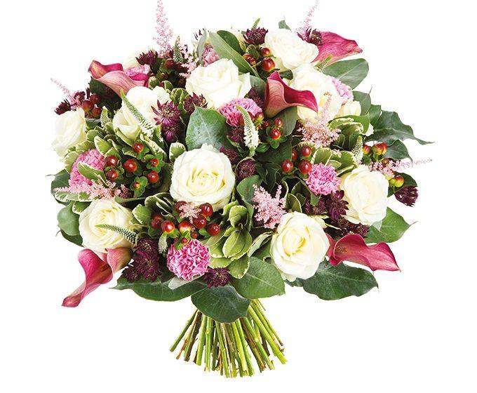 Bloemen van DEEN worden gratis thuis bezorgd, komen dagelijks vers van de veiling en worden met de hand gebonden door professionele bloemisten. Zeker 1 week vaasgarantie! Dit boeket bevat: •Roos wit •Astilbe roze •Astrantia •Hypericum •Calla roze •Pittosporum •Eucalyptus •Veronica wit •Anjer roze