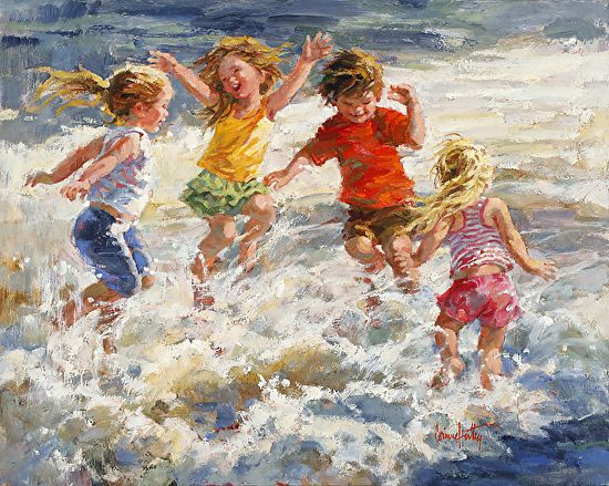 2428 The Crash of Waves by Corinne Hartley Oil ~ 24 x 30