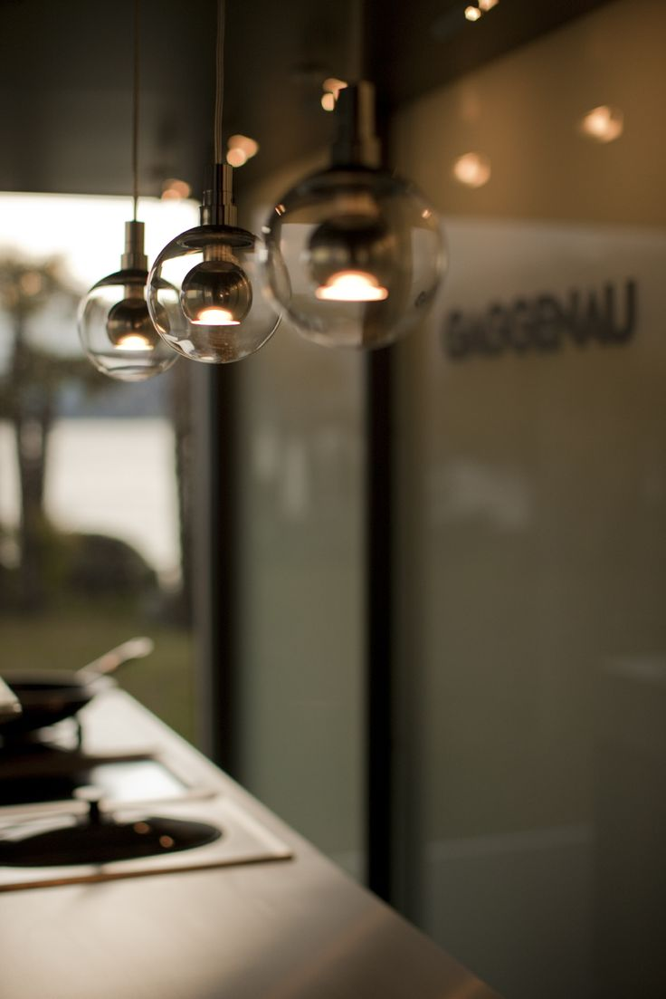 Occhio lighting concept enhances the emotional aspect of home cooking for Gaggenau's staging.