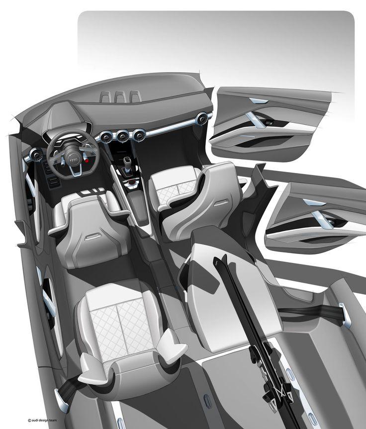 Audi Crossover Concept | Interior Sketch