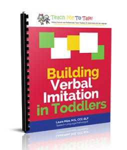 """Do you have a child who doesn't know how to repeat what you say? Do you get blank stares when you tell a child, """"Say ____."""" Imitation is the core skill that many late talkers, regardless of their official diagnosis, haven't yet mastered. Many toddlers with developmental delays lack the fundamental skills necessary to begin …"""