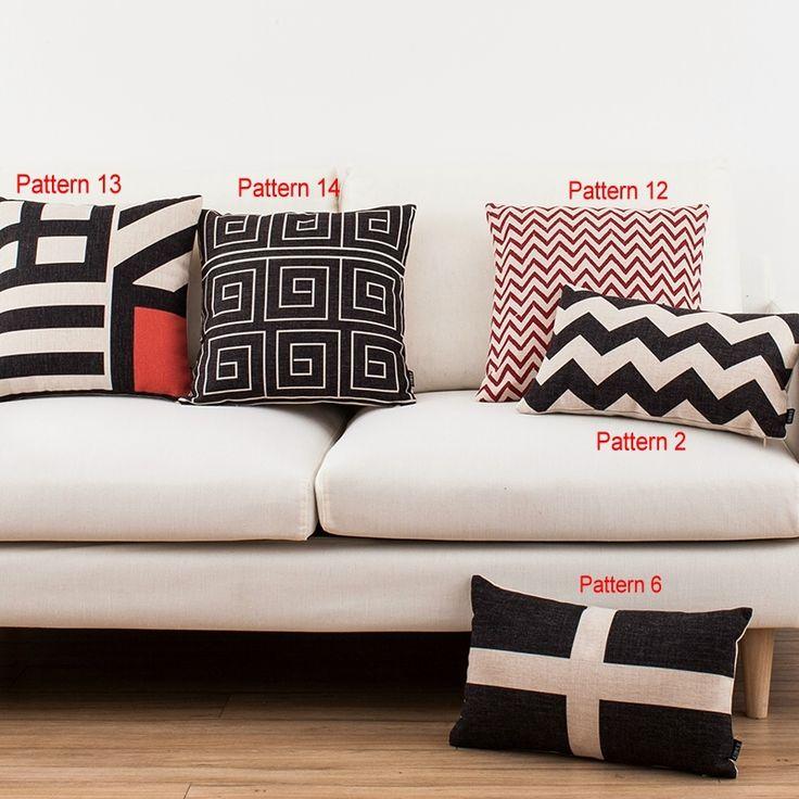 Современная волна решетки подушка чехол диван декор чехлы площадь продолговатые белье XPQ0267 XPQ0279 купить на AliExpress