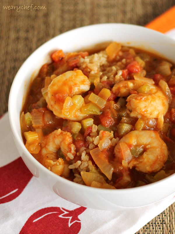 Find out how you can make this savory and healthy shrimp etouffee with only about a tablespoon of oil!