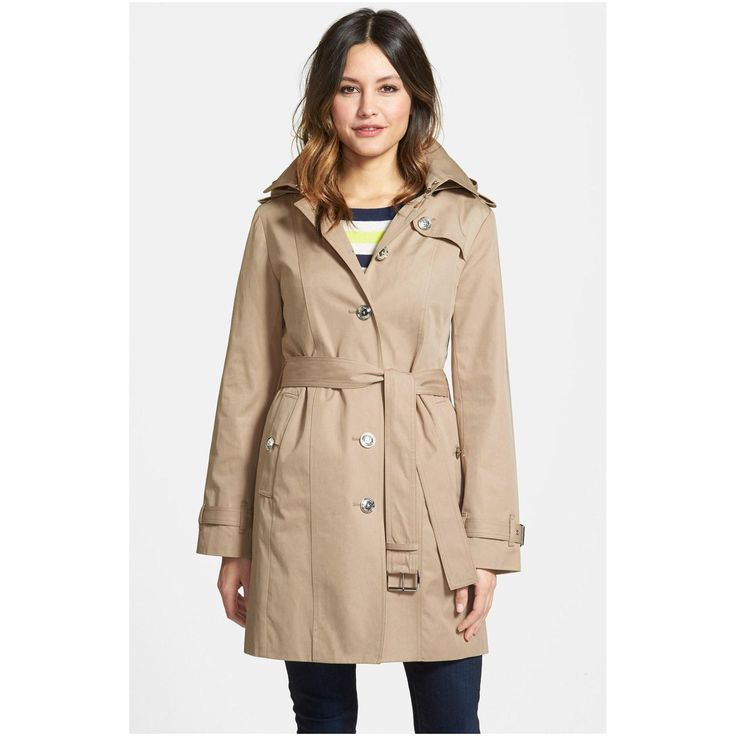 Perfect Womens Trench Coat : Women S Single Breasted Hooded Trench Coat