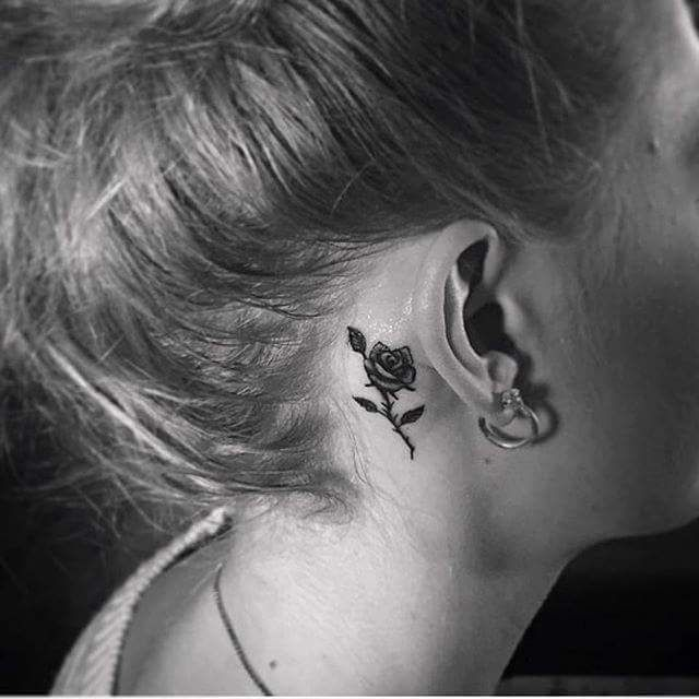 Best 25+ Behind Ear Tattoos Ideas On Pinterest