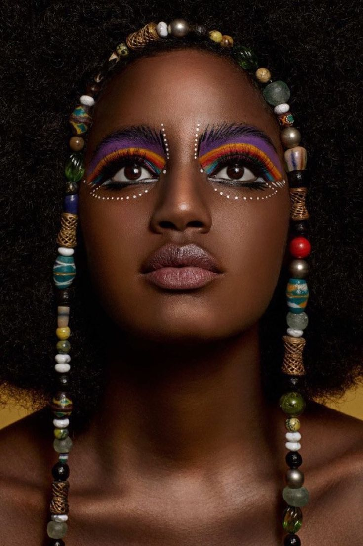 Pin by Ruthie Oaks on Tribal face dots and lines African