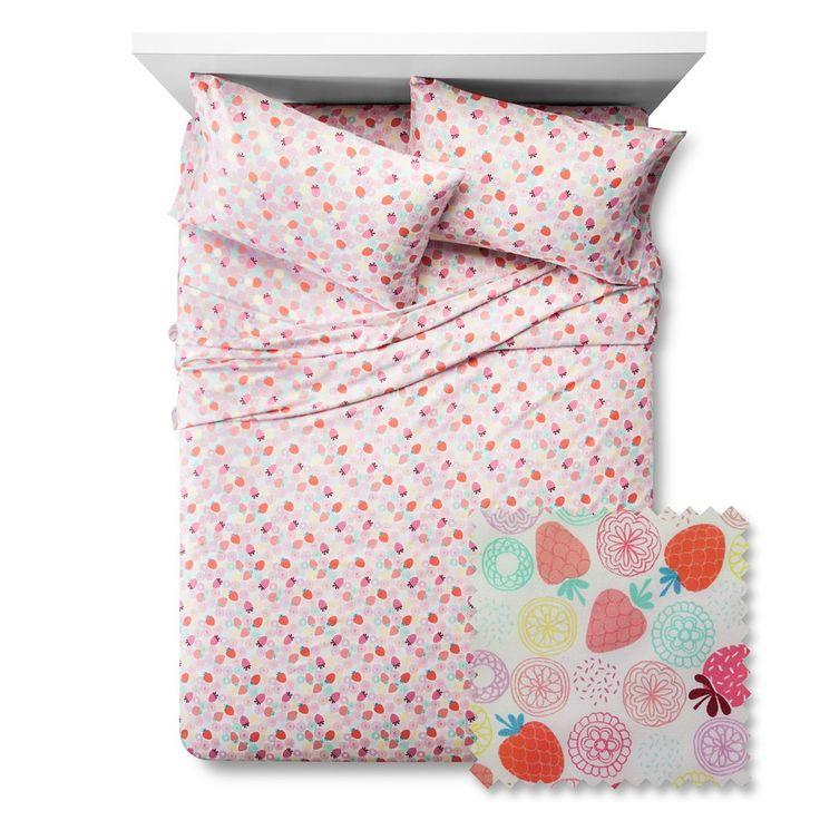 Berry Brights Sheet Set - Pillowfort, Fresh Melon