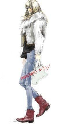 xunxun-missy ζωγραφισμένα χειμερινή μόδα εικονογράφος ...... _ από την κοινή χρήση CjerrybabyF φωτογραφία - Ζάχαρη σωρού