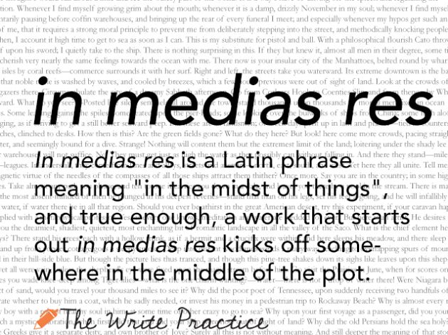 in medias res: Definition and Examples for Writers :: The Write Practice