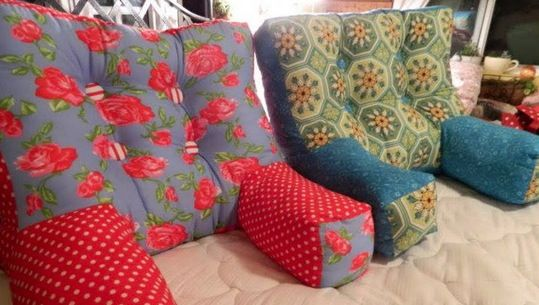 This Backrest Pillows DIY will come in so handy. They are ideal for propping you up in bed and will be your Backs saviour.