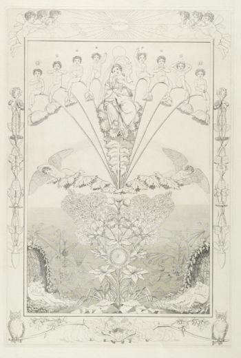 Philipp Otto Runge, Times of Day: Night, 1805, Copper engraving, 712 x 475 mm, Kupferstichkabinett, Dresden