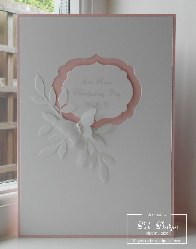 Eva's Christening card