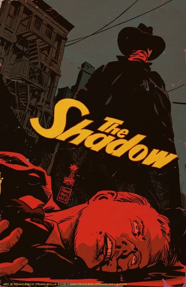 THE SHADOW #12 Cover by Francesco Francavilla who has a real handle on Film Noir elements of these stories