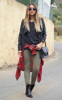 Кожаные черные ботинки для образа в стиле гранж.