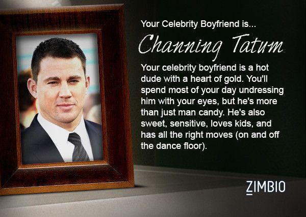I took Zimbio's celebrity boyfriend quiz and my true love is Channing Tatum! Who's yours?