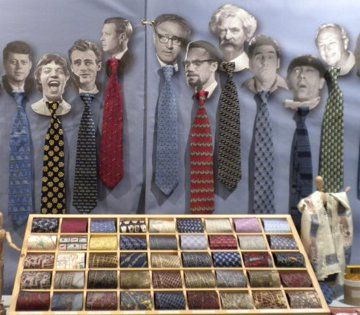 men and ties :) -- JOSH BACH TIES Trade Show Display