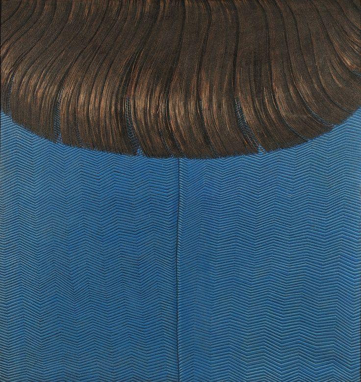 Domenico Gnoli, Red Hair on Blue Dress, 1969