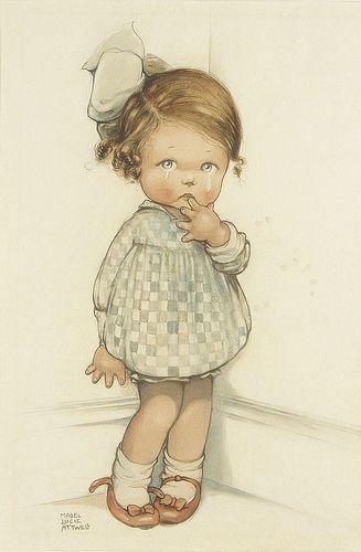 """myantiquelinen: littleg: Mabel Lucie Attwell - """"Crying Girl"""" (by sofi01) omg I had a little Mabel Lucy Atwell doll when I lived in Engla..."""