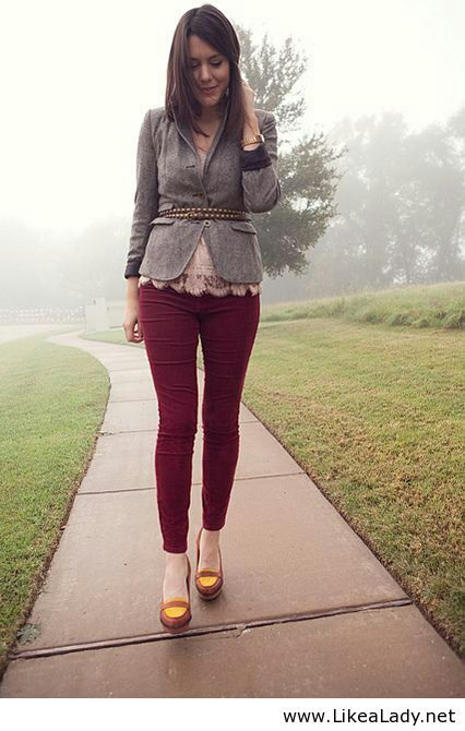 Interesting style for women - Wine pants