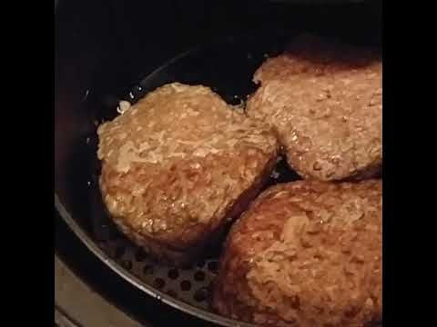 Cooking Angus Bubba Burgers in the Power Air Fryer - YouTube