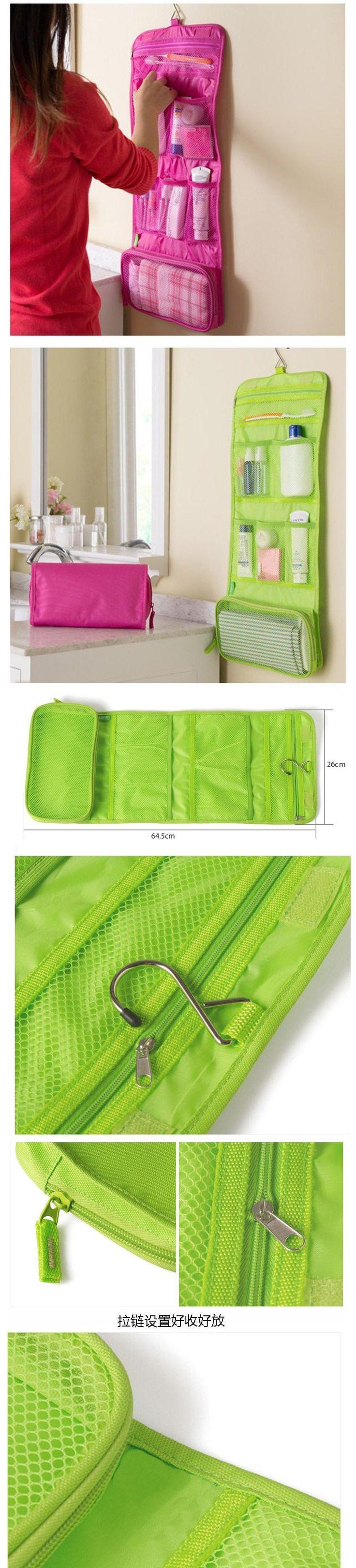 Korea Travel Cosmetic Bag / Hanging Toiletry Bag