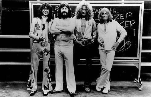 """""""Цеппелинычи"""" - школьники-переростки. Группа Led Zeppelin. Великобритания. 70-е."""