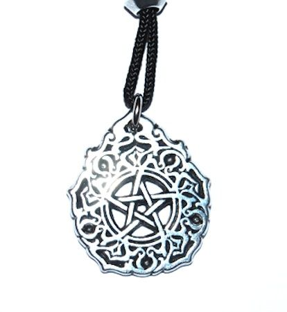 Morning Star Pentacle Pendant – Celtic Pewter Jewellery