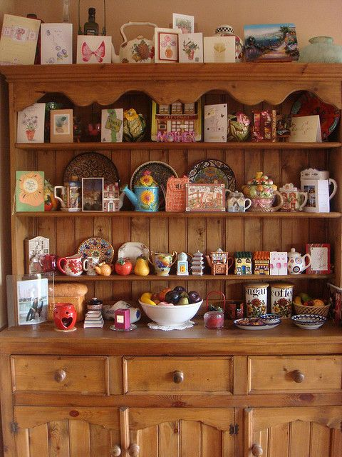Welsh Dresser by lubsy1uk, via Flickr    Always wanted a cluttered battered well loved Welsh Dresser