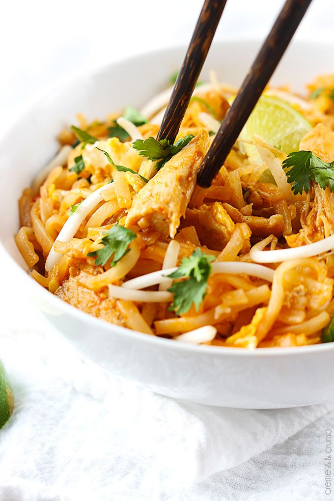 Better than take-out chicken pad thai -a quick and easy family favorite that's ready in just 30 minutes!