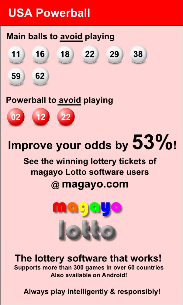 Improve your odds by 53% in winning USA Powerball