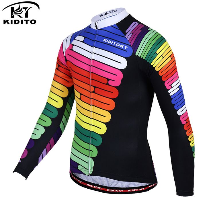 KIDITOKT Hilai 2017Long Sleeve Pro Cycling Jerseys MTB Bicycle Clothing Maillot Ciclismo Sportswear Mens Bike Clothes #Affiliate