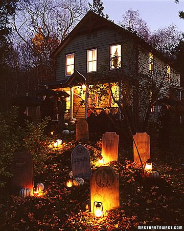 diy tombstone yard halloween decorations step by step by martha stewart