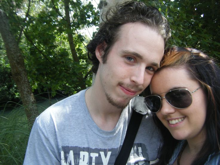 Me and my Boyfriend on our second date at the zoo!!