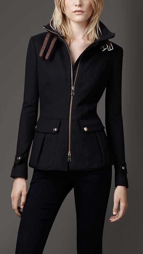 Funnel Neck Military Jacket | Burberry