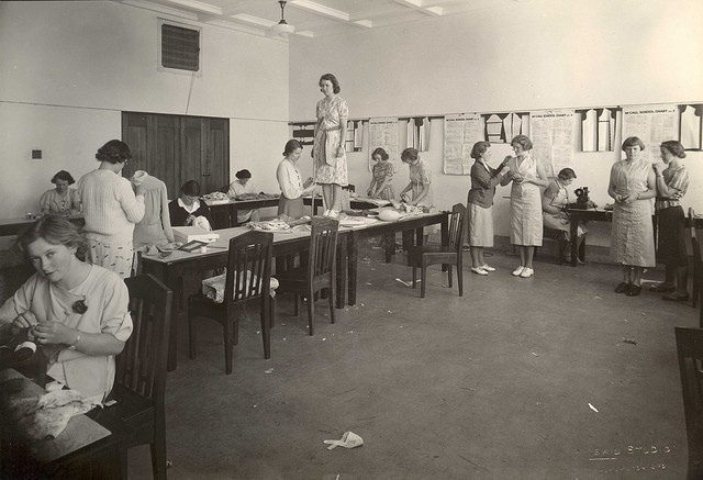 1940s-50s Women students - dress making by Massey University, via Flickr