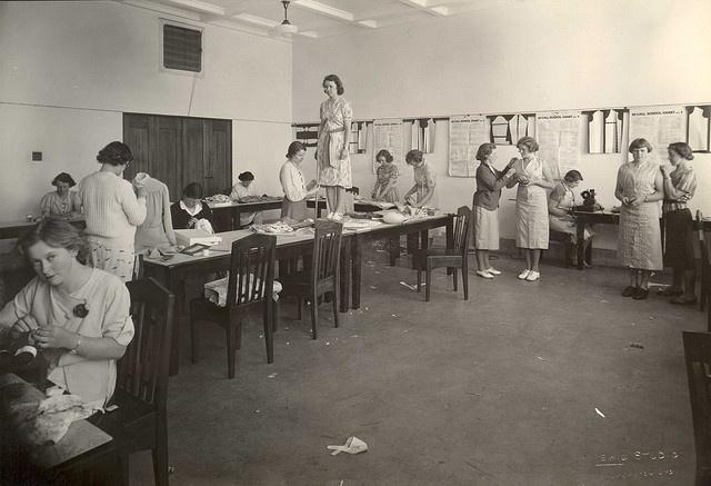 1940s-50s Women students - dress making by Massey University, via Flickr