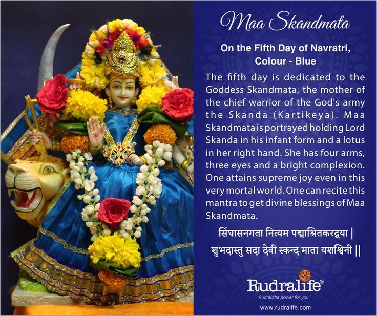 5th Day of Chaitra Navratri  #navratri #mata #hindu #india #festival #gudipadwa #navratra #navratre #rudralife #shiva #rudraksh #god #goddess #skandmata #maaskandmata
