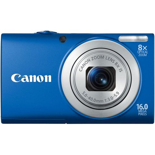 Canon PowerShot MP Digital Camera with 8x Optical Image Stabilized Zoom 28mm Wide-Angle Lens with 720p HD Video Recording and 3.0-Inch LCD (Blue) (OLD MODEL) A4000IS 16.0