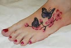 Butterfly Tattoos On Foot - Bing Images