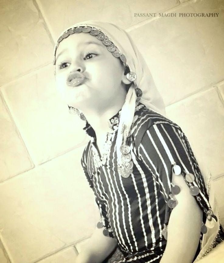 little girl with arabian custom look