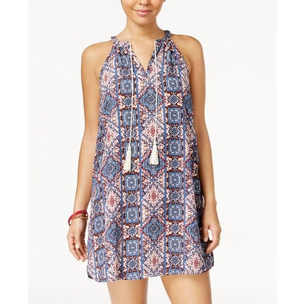 Hippie Rose Juniors' Peasant Shift Dress ($23) ❤ liked on Polyvore featuring dresses, ivy teal, boho dresses, teal dress, teal green dress, flounce dress and teal shift dress