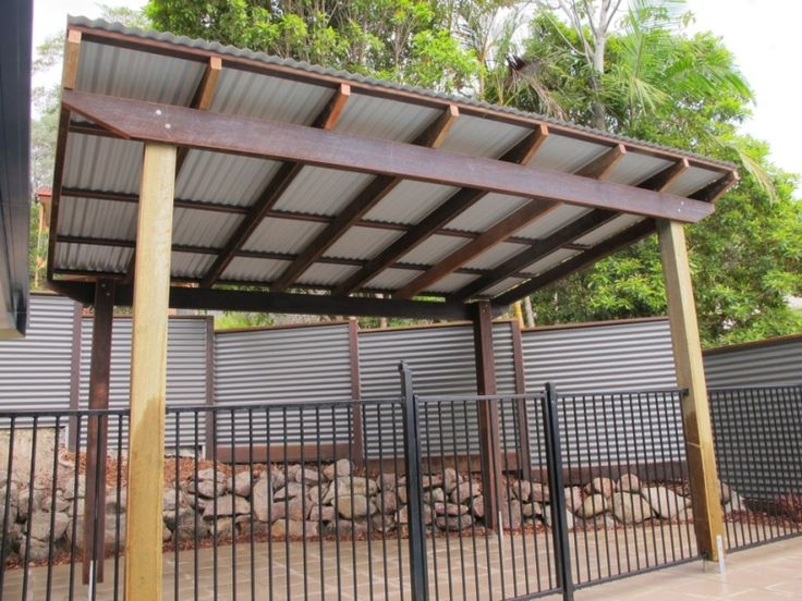 Pergola with corrugated metal roof frame colorbond for Tin roof house designs