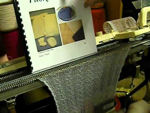 Circle Scarf on the Knitting Machine with Motor Drive - YouTube