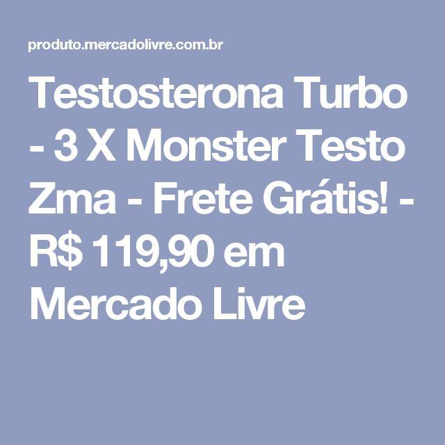 Testosterona Turbo - 3 X Monster Testo Zma - Frete Grátis! - R$ 119,90 em Mercado Livre