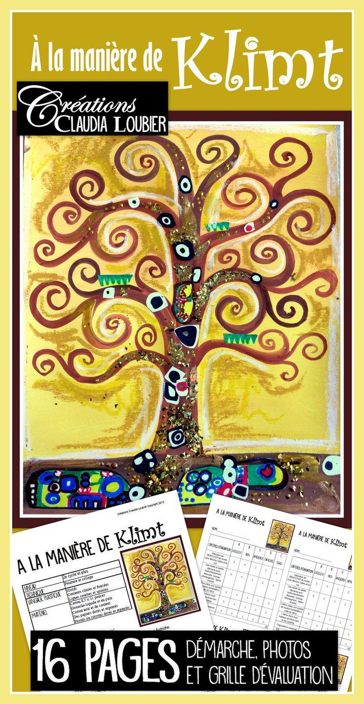 Nous aimons tous présenter des artistes à nos élèves. Voici un de mes préféré: Gustav Klimt ! Utiliser le plan de cours pour faire réaliser un arbre par élève ou utiliser la version collective pour en créer un grand pour la classe. Un projet qui contient un peu de tout: dessin, peinture, collage. Pour le 2e cycle et plus. Peut aussi être fait avec les plus petits, surtout la version collective. Démarche, photos des étapes et grille d'évaluation incluse.