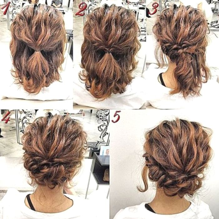 Cute Easy Updos For Medium Length Hair Wedding Pinterest Beach Hairstyles For Medium Length Hair Our Crazy H Simple Prom Hair Hair Styles Short Hair Tutorial