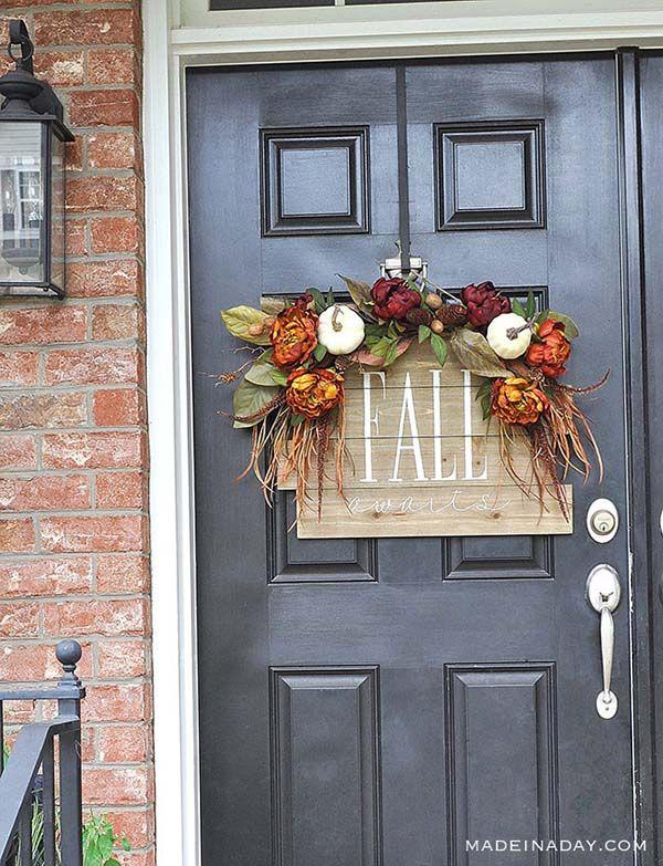 28 Splendid Diy Fall Front Door Decorations Door Decorations Diy Fall Wreath Front Door Fall Decor